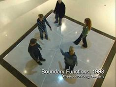Boundary Functions (1998) by Scott Snibbe - YouTube Boundary Functions is a set of lines projected from overhead onto the floor, dividing people in the gallery from one another.