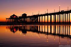 Go back: Huntington Beach Pier at sunset