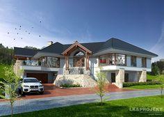 LK&942 to duży, bardzo reprezentacyjny #dom #parterowy z #piwnicą, w której znajduje się #garaż oraz strefa rekreacyja i pomieszczenia gospodarcze. Szczegóły #projektu znajdziecie na: http://lk-projekt.pl/lkand942-produkt-1652.html