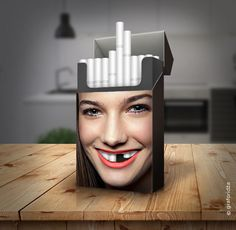 Tobacco Teeth: I Created This Ad Campaign To Raise Awareness Of Harmful Smoking Effects