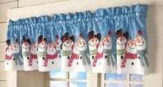 Frosty & Friends Snowman Window Valance