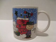 Galerie Merry Christmas Charlie Brown Coffee Mug Snoopy Peanuts Lucy Psychiatric