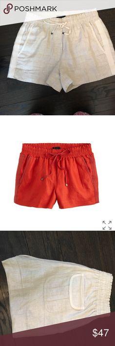 J Crew linen draw-string shorts w back pockets J Crew linen draw-string shorts w back pockets J. Crew Shorts