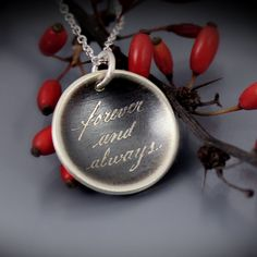 Forever and Always Necklace | etched sterling silver by Lisa Hopkins Design