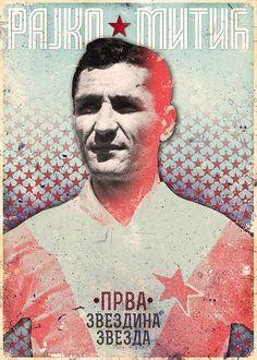Rajko Mitić by Marija Marković Football And Basketball, Soccer Players, Red Star Belgrade, Serbian, Behance, Sport, Collection, Legends, Deporte