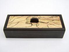 """Forward"" jewelry box by Philip Weber - Ebony, Spalted Maple - 5.5""x2.25""x1.9"" - $290"