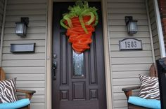 The Original Carrot Wreath for Easter Easter by RedWithEnvyDesigns, $35.00