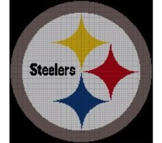 Pittsburgh Steelers Crochet Pattern Afghan Graph, $5.0