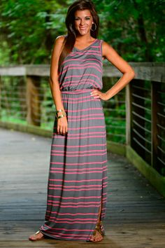 This striped beauty is fabulous! The gray and pink looks so good! And you can't forget about how comfy it is!