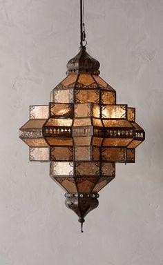 Bashira Lantern, Spindle from Anthropologie. Moroccan Decor, Moroccan Style, Moroccan Lanterns, Home Lighting, Pendant Lighting, Funky Lighting, String Lighting, Unique Lighting, Light Pendant