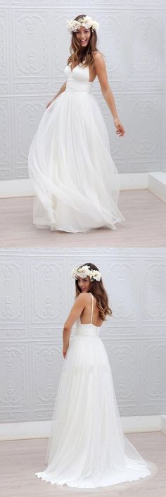 White wedding dress. All brides imagine finding the perfect wedding day, but for this they need the most perfect wedding gown, with the bridesmaid's outfits enhancing the wedding brides dress. Here are a few suggestions on wedding dresses. #weddingdress