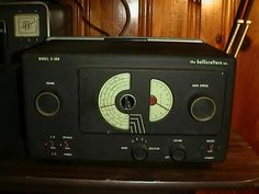 """Hallicrafters S-38B Receiver - [ This is the reason I heard the Beatles before any of my friends. I used it every weekend in the early 60s to listen to WBZ AM radio in Boston from a thousand miles away in the mountains of southern West Virginia. The DJ introduced them as """"a new band from England"""". // My antenna was a masterpiece of electrical engineering. It was a piece of leftover wire with one end hooked to the Halicrafters' antenna terminal, and the other end thrown out the window. - PSC]"""