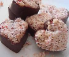 """""""almost raw"""" Valentine chocolate hearts/wedges 