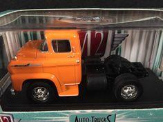 M2 Machines Auto Trucks Release 15 1958 CHEVROLET LCF Orange #10-29 Spartan 60 #M2Machines #Chevrolet