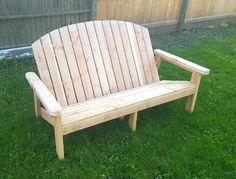 Pallet Adirondack Garden Bench | 101 Pallets