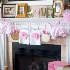 cute decoration girl baby shower