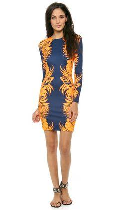 8ddd10608e Leaf Print Jersey Dress