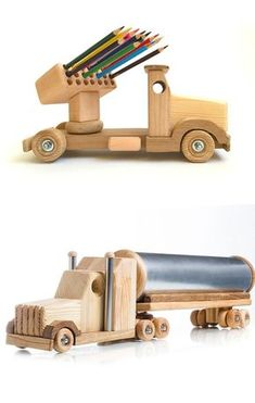 Wooden toys for boys Montessori educational toys Tank truck for cars lovers Handmade wood toys Unique birthday gift idea Christmas kids gift Wooden toys for boys Montessori educational toys Wood truck Pencil holder Handmade toys Unique birt