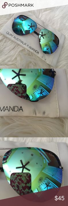 Quay Australia X Amanda Muse blue //minor scratches on lens Quay Australia Accessories Sunglasses