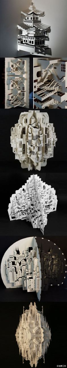 An amazing #structure created using #lasercutting and fitting pieces within each other.