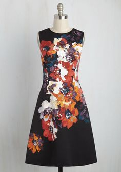 Garnish Your Reputation Floral Dress, #ModCloth