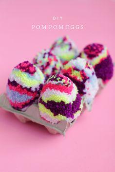 DIY Multicolored Pom Pom Eggs | Why Don't You Make Me