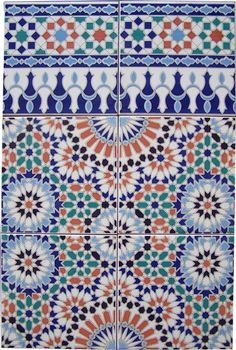 Moroco's tiles for the cool patio ...