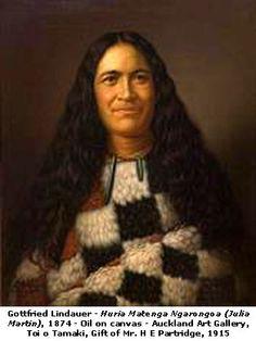 Huria Matenga Ngarongoa. (Julia Martin). 1874. Lindauer.