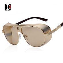 855a87702c Los Hombres de la vendimia de Steampunk Gafas de Sol de Diseñador de la  Marca Mujeres