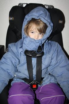Winter coats and car seats (very pic heavy!) Please, please, please don't put thick winter coats on in a car seat. So dangerous.