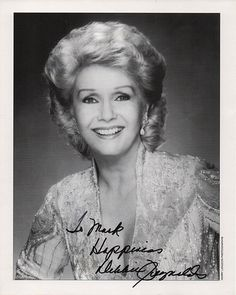 Movie and TV Star Debbie Reynolds Autograph Hand Signed Photo