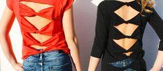 Recycling van oud T-shirt naar zomerse outfit, makkie! #recyclen #knutselen #t-shirt #DIY