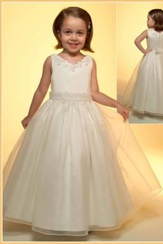 Cute A-line Dress With Bow Tie For Flower Girls