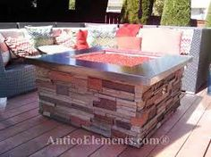faux used brick firepit - Google Search