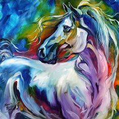 """MYSTIC POWER""  ~  equine abstract, oil on canvas (2012) by artist Marcia Baldwin from Shreveport, LA USA"