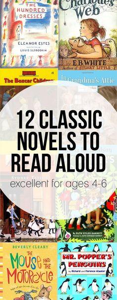 Classic novels to read aloud for Kindergarten (and those aged 4-6). Kindergarten Classic Novels