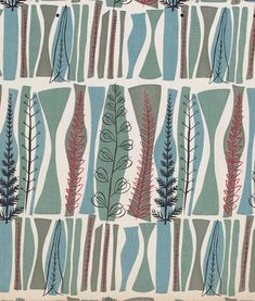 Fabric pattern by Mary White (b.1926), 1954, Coppice, designed for Heals.