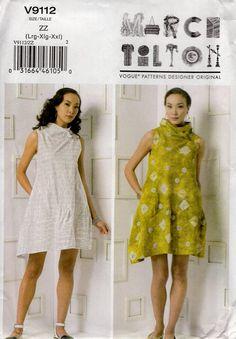 FREE US SHIP Vogue 9112 Marcy Tilton Designer Funky Mod Dress Size l xl xxl  1618 20 22 24 26 Bust 38 40 42 44 46 48 New plus size 2015 by LanetzLiving on Etsy