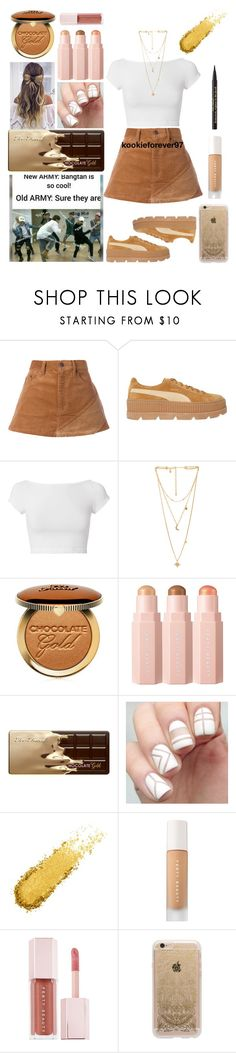 """""""End Game"""" by kookieforever97 ❤ liked on Polyvore featuring Marc Jacobs, Puma, Helmut Lang, Rebecca Minkoff, Too Faced Cosmetics, Sephora Collection, Rifle Paper Co, bts, bangtan and bangtansonyendan"""