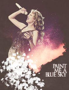 "Dear John- ""You paint me a blue sky, then go back and turn it to rain...."""