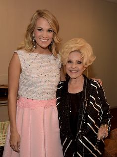 Carrie Underwood Photos Photos - ACM Honoree Carrie Underwood and Brenda Lee attend the Annual ACM Honors at Ryman Auditorium on September 2014 in Nashville, Tennessee. - Annual ACM Honors - Backstage And Audience Global Citizen Festival, Susan Lucci, Patty Duke, Country Western Singers, Carrie Underwood Photos, Brenda Lee, Annette Funicello, American Bandstand, Country Music Stars