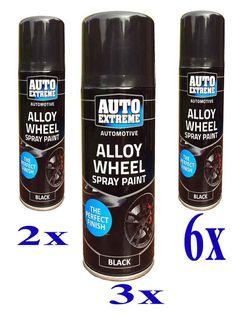 3x Black Plastic Bumper Trim Spray Can Restorer Car Bike Auto