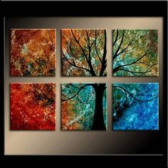 tree painting - four seasons