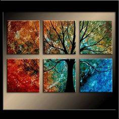 tree painting - four seasons