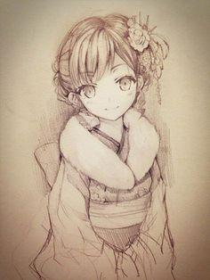 anime drawing - 55 Beautiful Anime Drawings  <3 <3
