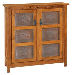 Amish Dynasty Mission Pie Safe Delightful solid wood pie safe that contributes easily to your rustic or country kitchen. Select copper door panels or go with solid wood. Built in Amish country in the wood and finish you choose.