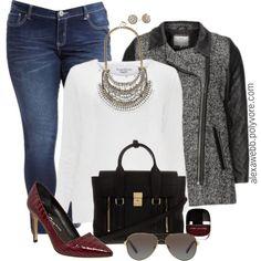 """#plus #size #fashion #fall """"Plus Size - Statement Piece"""" by alexawebb on Polyvore @alexandrawebb"""