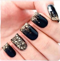 Black with gold sparkle, this would go awesome with my dress.