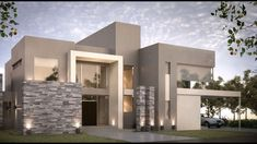 50 Fachadas de casas modernas para construir Casas Casas modernas Fachadas de casas modernas