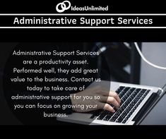 Service is a asset. Performed well, they add great value to the business. us today to take care of administrative support or you so you can focus on Administrative Support, Business Contact, Growing Your Business, Take Care, Productivity, Periodic Table, Wellness, Ads, Periodic Table Chart
